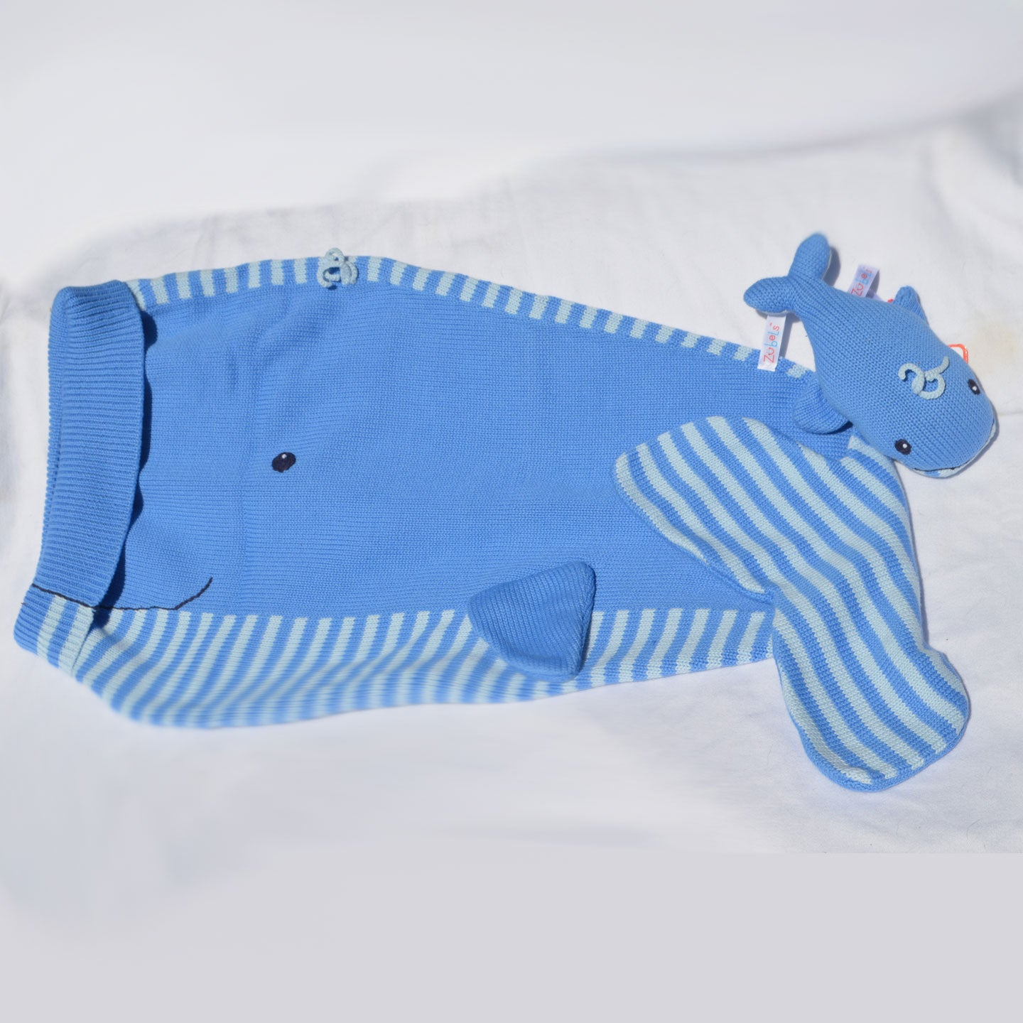 Whale Knit Blanket & Rattle