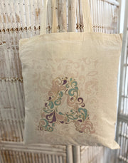 Tote Bag ~ Letters - Multi Colour