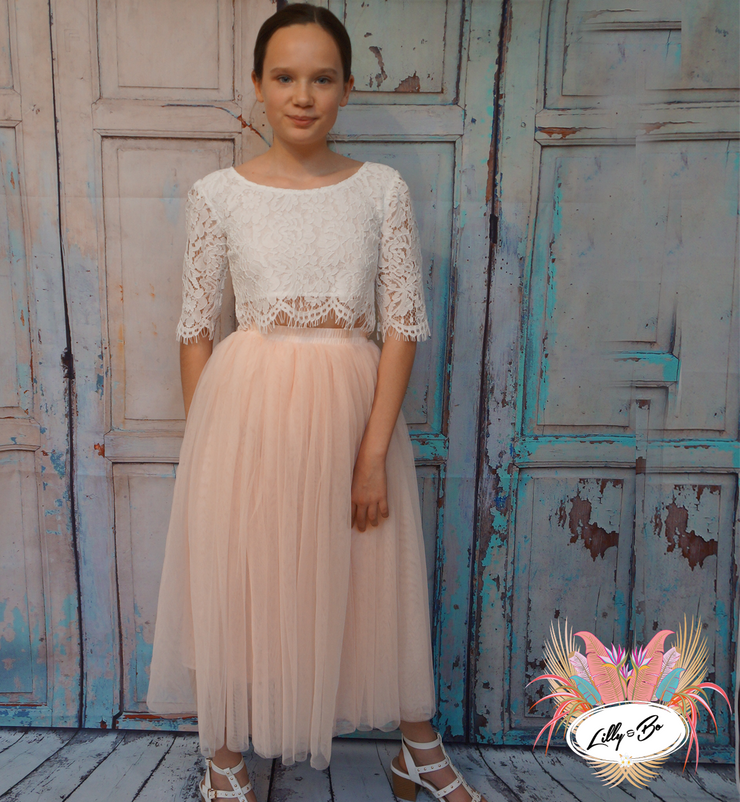 Ava ~ Luxurious Tulle & Lace Two-Piece