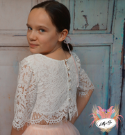 Ava ~ Luxurious Tulle & Lace Two-Piece in white