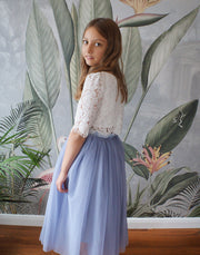 Ava in Grey ~ Luxurious Tulle & Lace Two-Piece