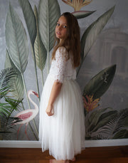 Ava in Ivory ~ Luxurious Tulle & Lace Two-Piece