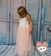 Honey ~ Party or Flower Girl Dress in Apricot