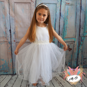 Remy in white ~ Flower Girl or First Communion Dress