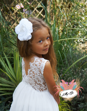 Honey ~ Party or Flower Girl Dress in white