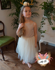 Beatrice Tulle Dress in Cream ~ Party or Flower Girl Dress