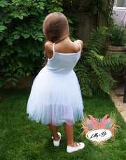 Beatrice Tulle Dress in White ~ Party or Flower Girl Dress