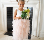 Bess in Apricot ~ Luxurious Tulle Party Dress
