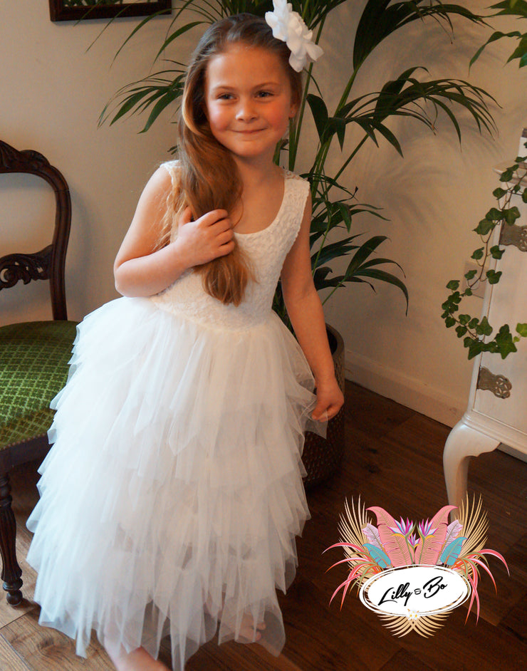 Bess in white ~ Luxurious Tulle Dress