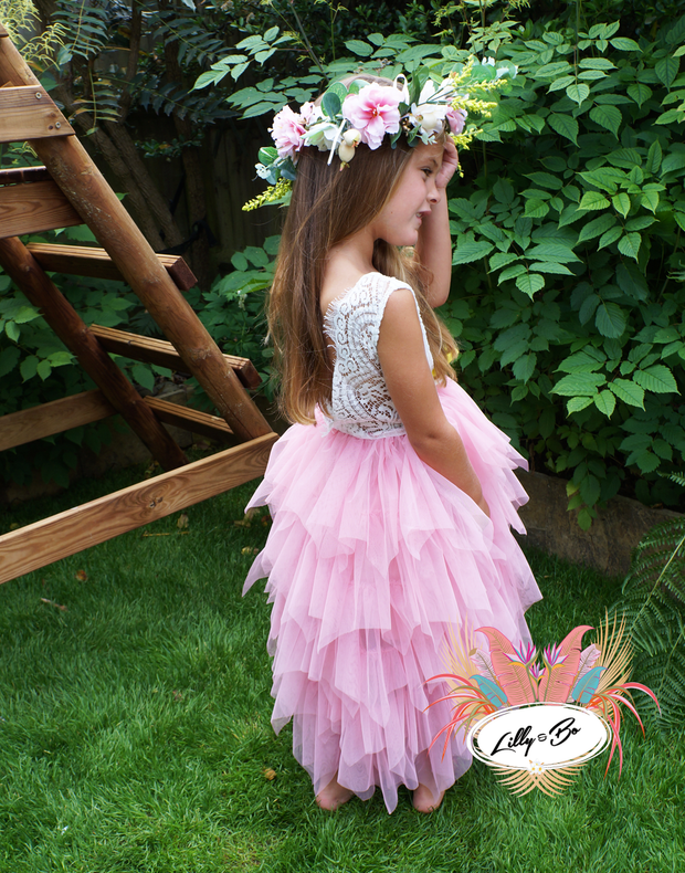 Bess in Vintage Rose ~ Party or Flower Girl Dress
