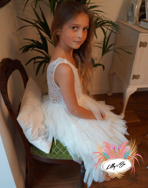 Bess in Ivory ~ Party or Flower Girl Dress