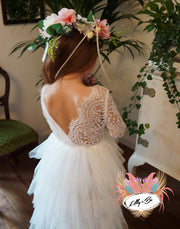 Coco in white ~ Party or Flower Girl Dress
