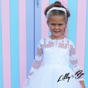 Cynthia ~ Flower Girl Dress in White