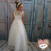 Davina ~ Flower Girl | Communion Dress in White or Ivory