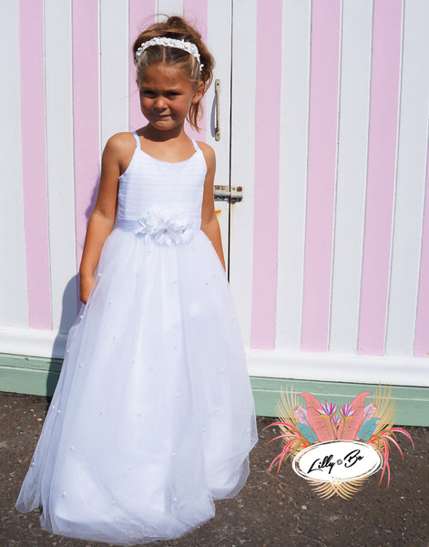 Donatella ~ Flower Girl | First Communion in White or Ivory