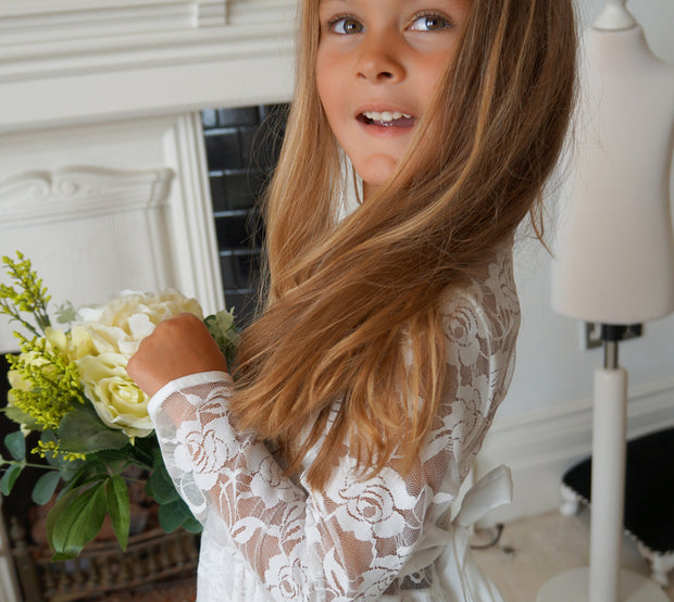 Dusk ~ flower girl dress