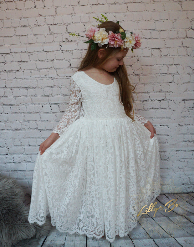 Evelyn ~ Luxurious tulle and lace dress