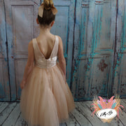 Fleur in Nude ~ Flower Girl | Party Dress