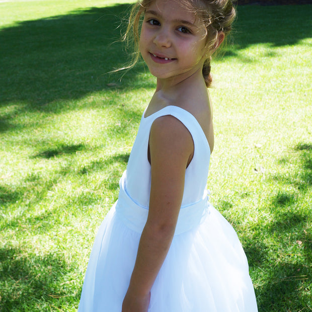 Fleur ~ Flower Girl | Communion Dress in White or Ivory