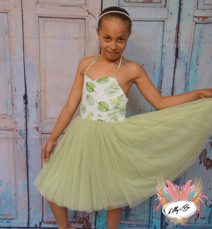 Jazmin in Sage Green ~ Party Dress