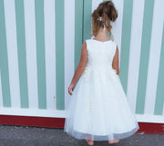 Naomi in Off White ~ Flower Girl or Communion Dress