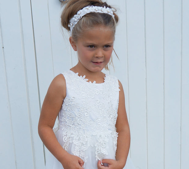 Naomi in Ivory ~ Flower Girl or Communion Dress