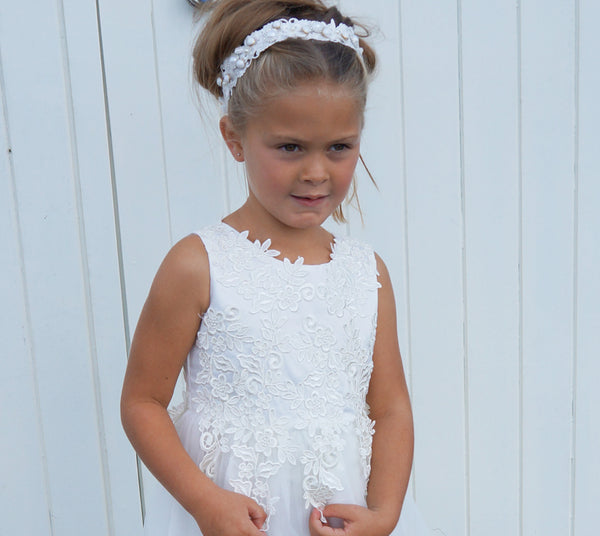 Naomi in Off White ~ Flower Girl or First Communion Dress