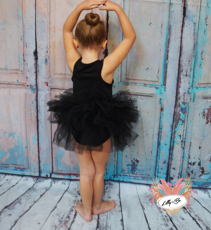 Sky - Tutu Dress in Black