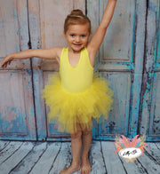 Sky - Tutu Dress in Yellow