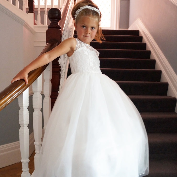 Melody in off white ~ Flower Girl or First Communion Dress