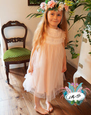 Neve in Blush Pink ~ Party Dress or Flower Girl