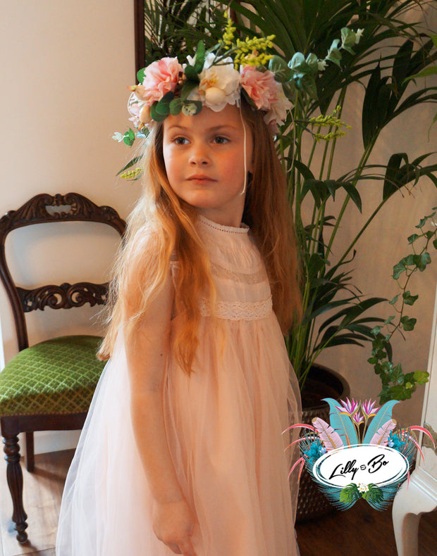 Neve in Teal ~ Party Dress or Flower Girl