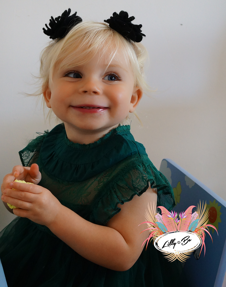 Neve in Teal ~ Party Dress or Flower Girl {baby}