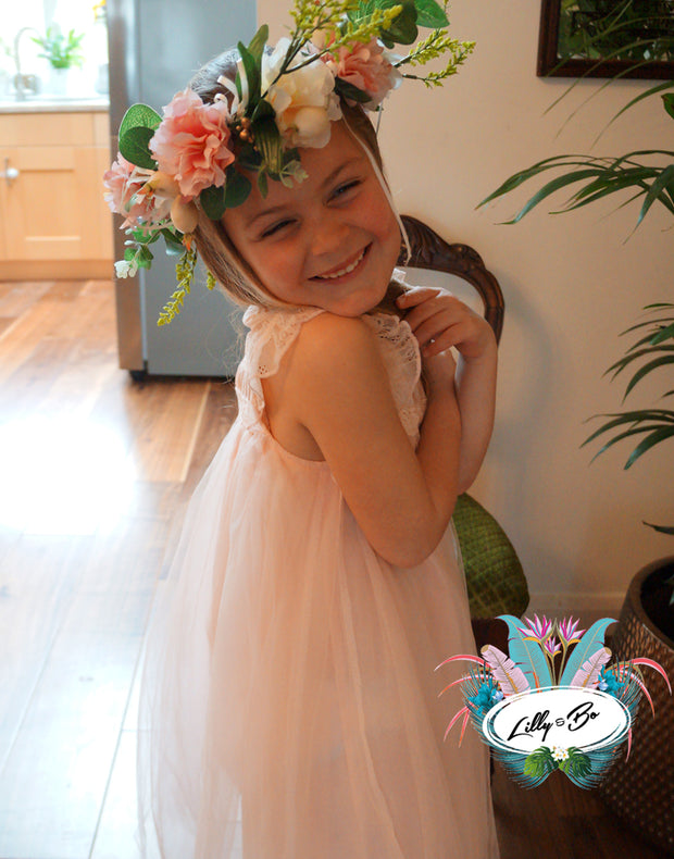 Neve in White ~ Party Dress or Flower Girl