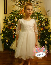 Sophia in white ~ Flower Girl or First Communion Dress