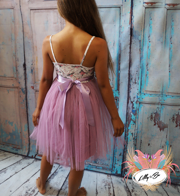 Violet Tulle Dress ~ Party or Flower Girl Dress