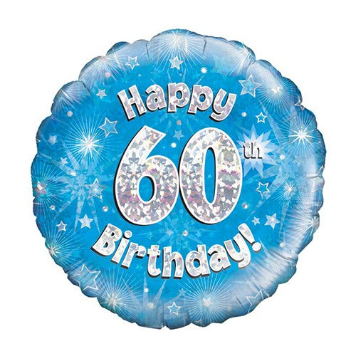Happy Birthday Blauw 60