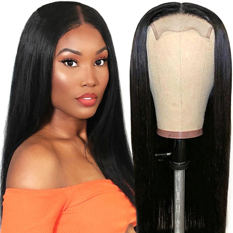Closure Human Hair Lace Front Wig