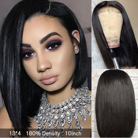 Straight Short Lace Wig Natural Hairline