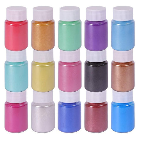 15 Colors Lips Powder Pigment Set