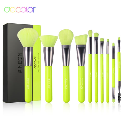 Neon Makeup Brush Set