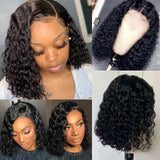 Short Curly Lace Closur Wig