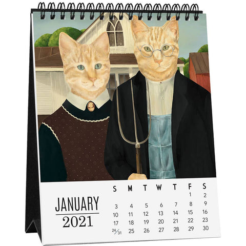 Cat-itude Easel Desk Calendar