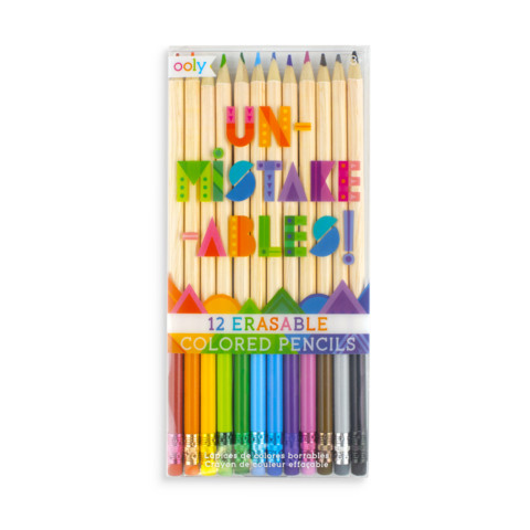 Un-Mistakeables Erasable Colored Pencils S/12