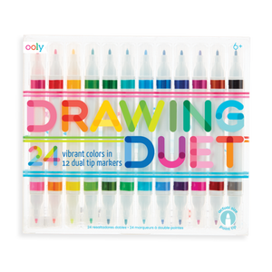 Drawing Duet Double-End Markers S/12