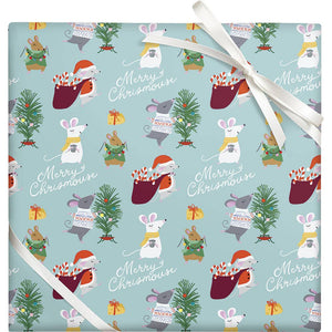 Merry Christmouse Wrapping Paper