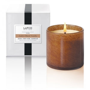 Amber Black Vanilla Signature Candle by Lafco