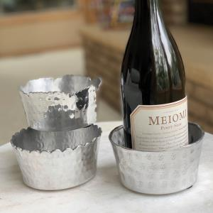 Hammered Wine Bottle Holder