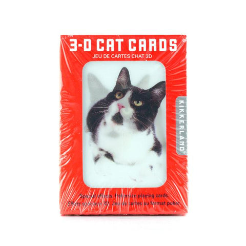 3 D Cat Playing Cards
