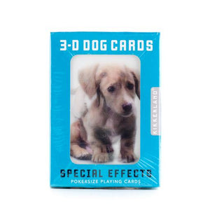 3 D Dog Playing Cards